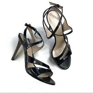 Karen Millen Black Strappy Sandals Size 40
